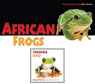 2015 African Frogs - Collectible Souvenir Stamp, Mint Never Hinged