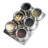 Leluckly1 Multifunktionsküchenkoffer Einfache 6 in 1 Küche Edelstahl Salz Gewürz Set Gewürzdosen Container Gewürzflaschen