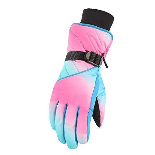 Gloves Gants de Ski Chauds, 3-7 Ans -20℃ ou supérieur Doublés 3M Thinsulate G80 Anti-Froid et Imperméable pour Activité en Plein-Air