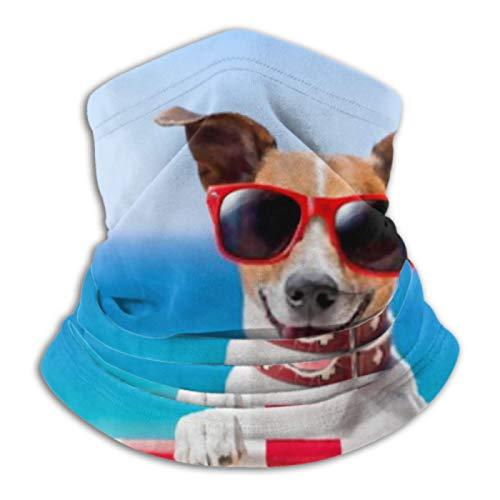 AEMAPE Calentador de Cuello: Tubo de Polaina para el Cuello, Calentador de Orejas, Diadema para Perros, Que se relaja en una Elegante Silla de Cubierta, Bufanda de versatilidad