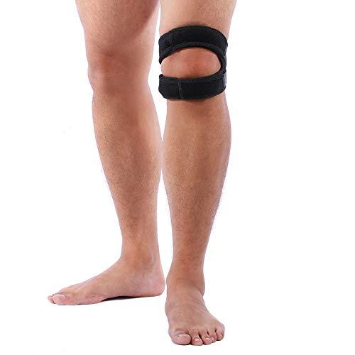Kniebandage für Sport mit Einstellbarem Druck-Riemen Kompressions Knieorthese Knieschoner für Männer Damen,Knieschützer für Sport Gymgears Fitness Volleyball Bike Handball Joggen