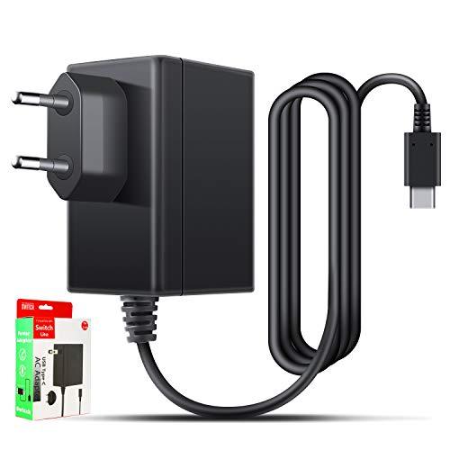 Netzteil für Nintendo Switch, Ladegerät für Nintendo Switch Ladekabel 1.5m PD Typ-C Reise Ladegerät Charger für Nintendo Switch / Switch Lite, Andere Typ C Geräte TV-Modus Unterstützt 15V2.6A/5V1.5A