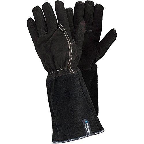 Ejendals Handschuh Tegera 134 für Schweißarbeiten, Größe 7, 1 Stück, braun/schwarz, 134-7
