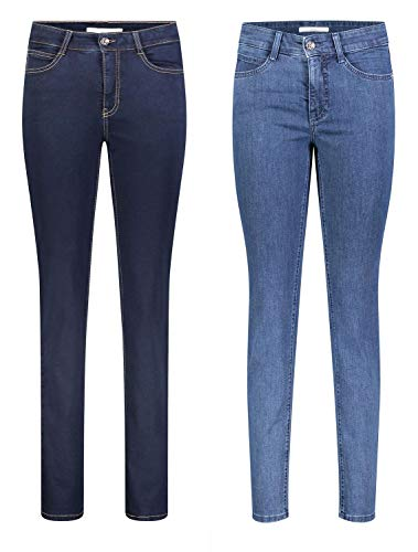 MAC Angela 2er Pack Damen Jeans in Verschiedene Farbvarianten Damen Hose, Größe:W42/L32, Farbe:D801+D845