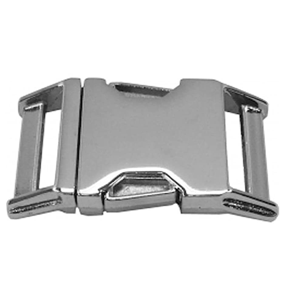 Paracord Planet Polished Metal Side Release Buckles – 3/4in Or 5/8in Size Options - Nickel, Brass, Or Black Finishes – Packs of 5, 10, and 25 – Made in America
