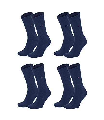 TOMMY HILFIGER Herren Classic Casual Business Socken 4er Pack verschiedene Farben (jeans (356), 39-42)