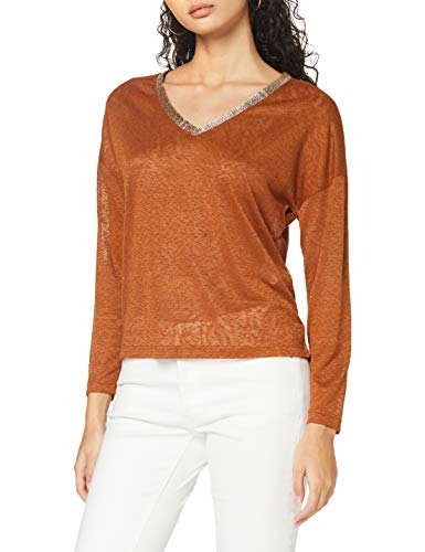 Only Onyrita L/S V-Neck Top Jrs Suter Pulver para Mujer