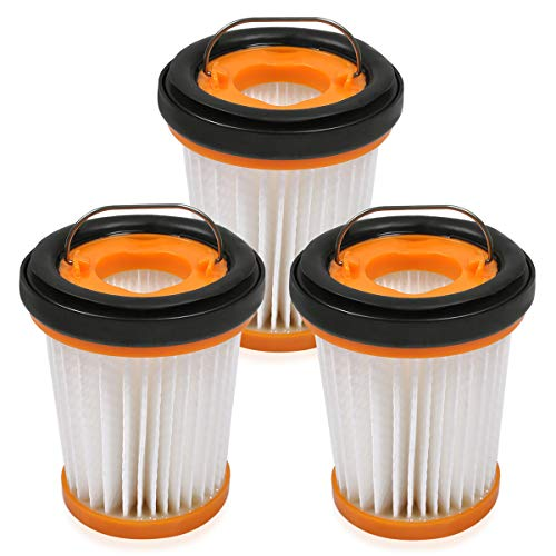 KEEPOW Fabric Vacuum Filter Compatible with Shark WV201 WV200 WV205, WV220 WANDVAC Handheld Vacuum. Compare to Part # XHFWV200, 3-Pack