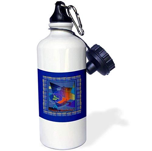qidushop Gymnastik-Kerzen für Jungen, Weiß, Sport-Wasserflasche, Edelstahl, isolierend, Cup Biking, Camping, 535 ml