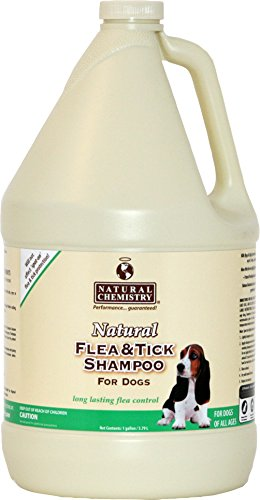 Natural Chemistry Natural Flea and Tick Shampoo for Dogs, 1-Gallon