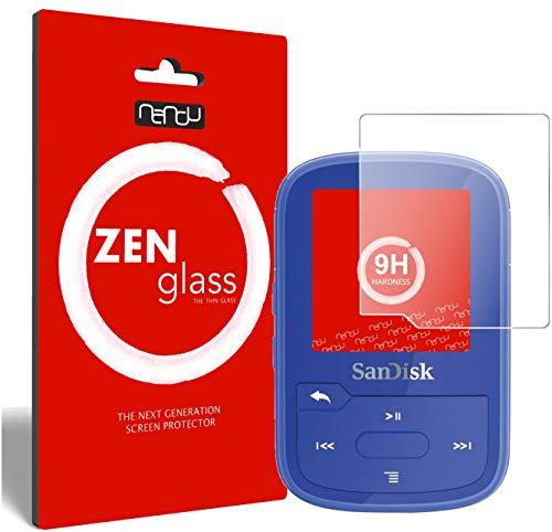 ZenGlass (2 Stück Flexible Glas-Folie kompatibel mit SanDisk Clip Sport Plus Panzerfolie I Display-Schutzfolie 9H