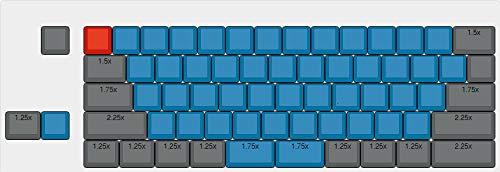 YMDK XDA Teclado completo en blanco azul para teclado mecánico MX Steelseries Ergodox Filco Cosair Noppoo Planck IKBC Vortex Core Diseño UHK