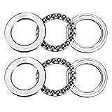 uxcell 51108 Thrust Ball Bearings 40mm x 60mm x 13mm Chrome Steel ABEC3 Single Row Roller 2pcs