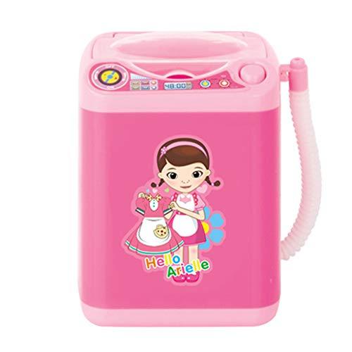 MIsha Toy Mini Washing Machine Maquillaje Automático Limpiador De Pinceles Secos Cepillos De Limpieza Profunda Esponja Polvo Puff Tiktok Juguete