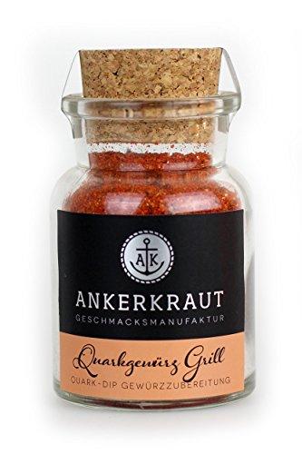 Ankerkraut Quarkgewürz Grill, BBQ Gewürzmischung, Quark-Dip selber machen, 95g im Korkenglas