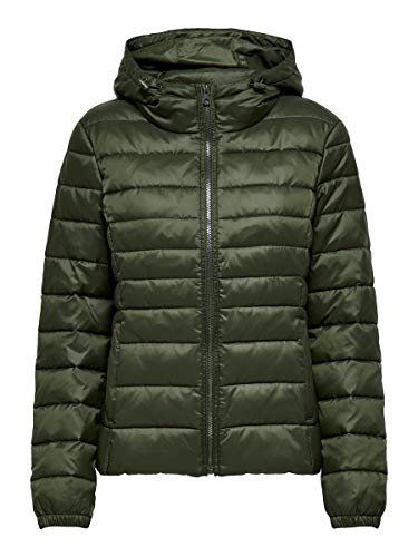 Only ONLTAHOE Hood Jacket OTW Noos Chaqueta, Forest Night, M para Mujer