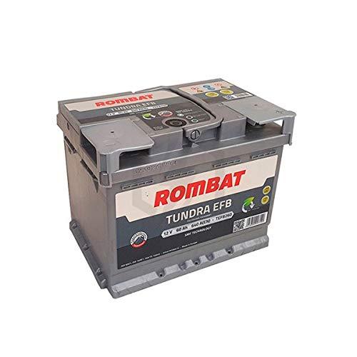 Rombat - Batería para Coche Tundra EFB TEFB260 12V 60Ah 640A