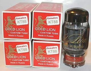El cuarteto seleccionó el Platino de Las válvulas KT88 Genalex Gold Lion Reissue Fabricadas en Rusia, Nuevas en su Embalaje Original. Válvulas seleccionadas y probadas.