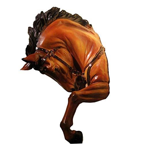 Montaje en pared Pared de la Cabeza de Caballo de Resina Guerra Que cuelga de la Pared Cabeza de Caballo decoración Colgante de Equipo de casa decoración de la Barra Retro Cabeza de Animal