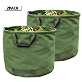 WHT 2-Stück 125L Gartenabfallsäcke für Schwere Aufgaben mit Griffen