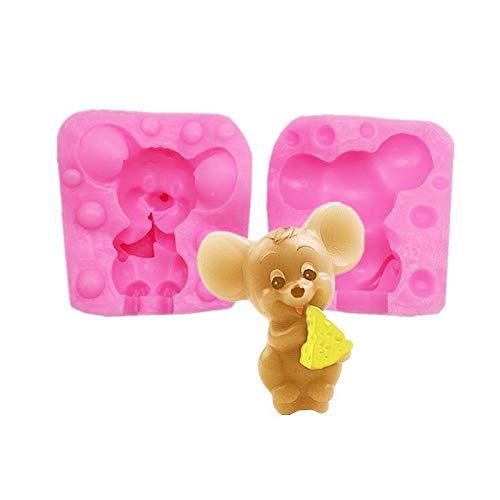 Kleine Silikon-Maus-Kuchenform, kleine Schokoladenform, DIY-Backform für Mäuse, 1 Stück