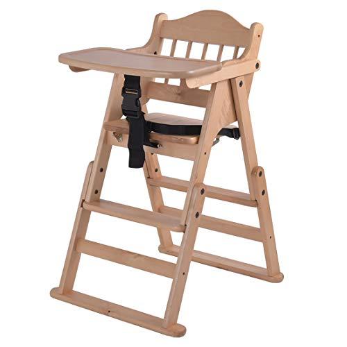 タンスのゲン ベビーチェア テーブル付き ベルト 折りたたみ ハイ&ローチェア 2WAY 組み立て不要 完成品 木製椅子 ハイチェア ローチェア テーブル 木製 65400001 00 (64712)