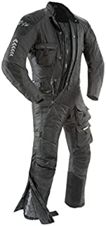 Joe Rocket Survivor Men's Waterproof 1-Piece Motorcycle Riding Suit (Black/Black, X-Large)