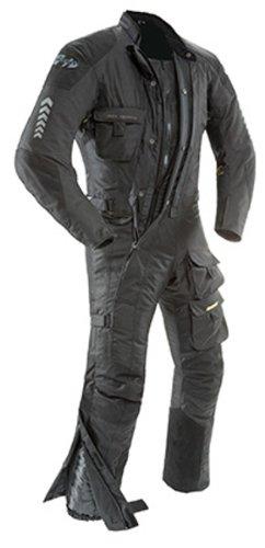 Joe Rocket 1370-4005 Survivor Men's Waterproof 1-Piece Motorcycle Riding Suit (Black/Black, X-Large)