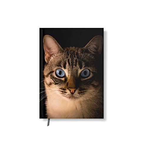 Taccuino con copertina design Gatto tigrato 128 pagine segnalibro DIN A5 liniert