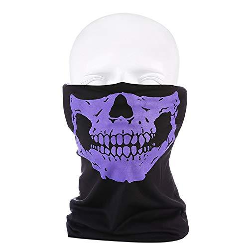 Variedad Conjunto De 3 Piezas Cráneo Multifuncional Magic Turban Bufanda De Seda De Hielo Mascarilla,5