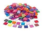 Rayher 14540999 - Mosaico acrílico (1 x 1 cm, 205 Unidades), Transparente