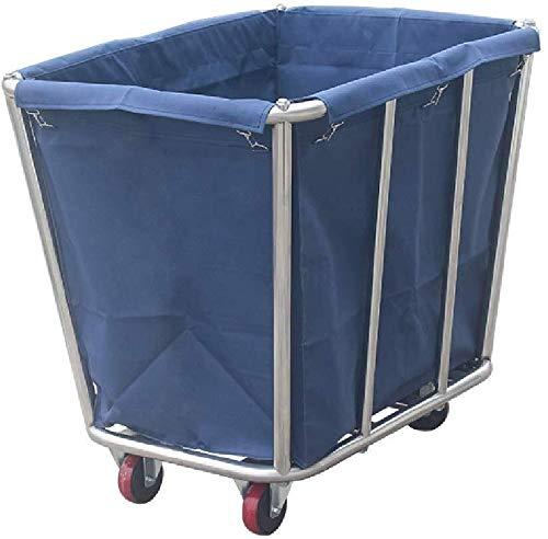 Wasserij sorteren car Stainless Steel Rolling wasmand met verwisselbare tassen, Heavy-Duty Laundry Sorter Organizer winkelwagen met wielen, Brown/Blauw Dienst rolwagen (Color : Style-1)