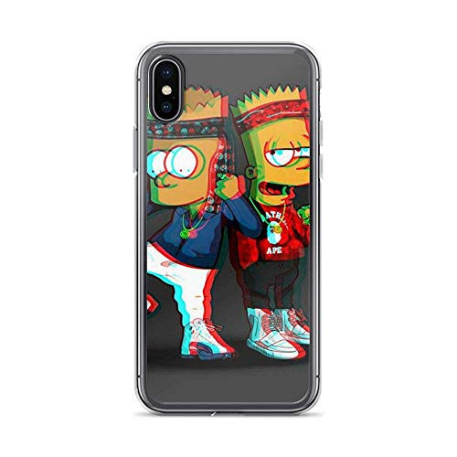 Phone Cases for iPhone XR Case Pure Clear Bart Simpson and Simpsons Homies Cousin