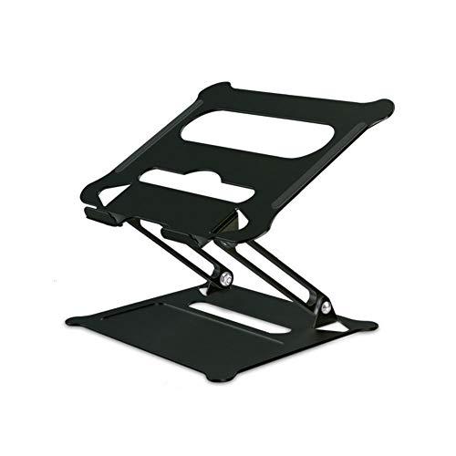 Medla Notebook ständer Aluminium: Multi-Angle-Standfuß mit Heat-Vent,Faltbar Notobook Ständer Halterung für Laptop 10-17 Zoll,Schwarz