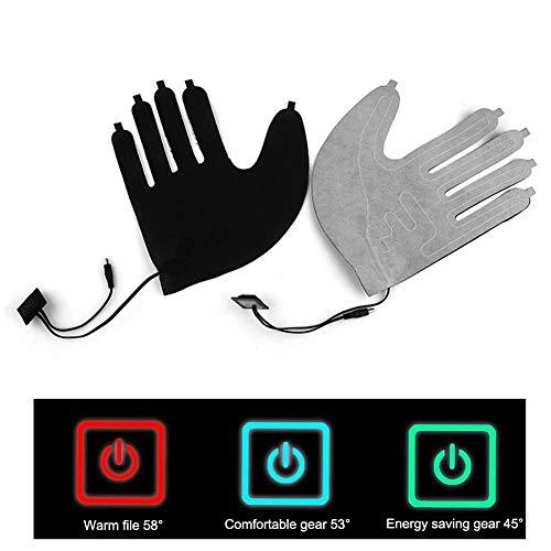 precauti Fünffinger-Handschuhe USB Elektrische Heizkissen Lithium-Batterie-Stromversorgung DREI-Gang-Thermostat