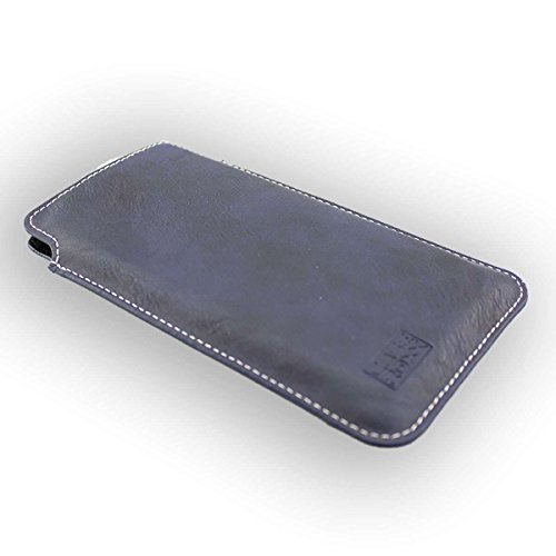 caseroxx Business-Line Etui für Ulefone Power 3, Tasche (Business-Line Etui in blau)
