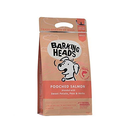 Barking Heads Hunde Trockenfutter - Pooched Salmon - 100% natürlicher Lachs ohne künstliche Aromen, gut für gesunde Haut und Mantel, 2 kg
