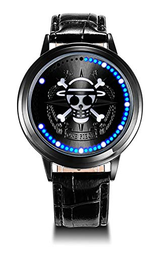 Wildforlife Anime One Piece Straw Hat Pirates Collector's Edition Touch LED Watch