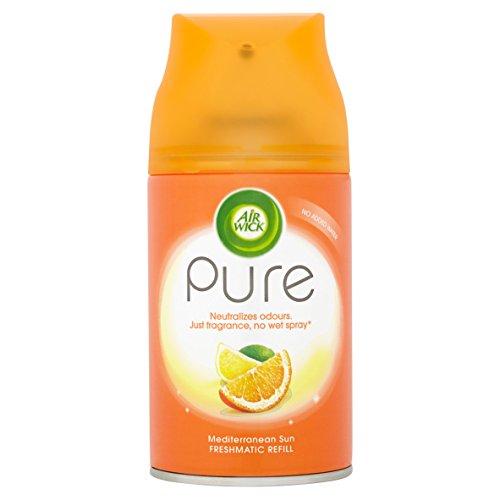 Air Wick Air Freshener, Freshmatic Pure Auto Spray, Mediterranean Sun, Refill, 250 ml