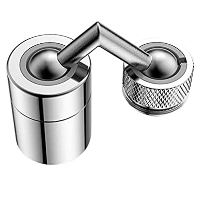 Foviza Universal Splash Filter Faucet,Kitchen Faucet Aerator Sink Movable tap Head Rotatable Filter Nozzle Swivel Water Saver Movable Tap Kitchen Faucet Head