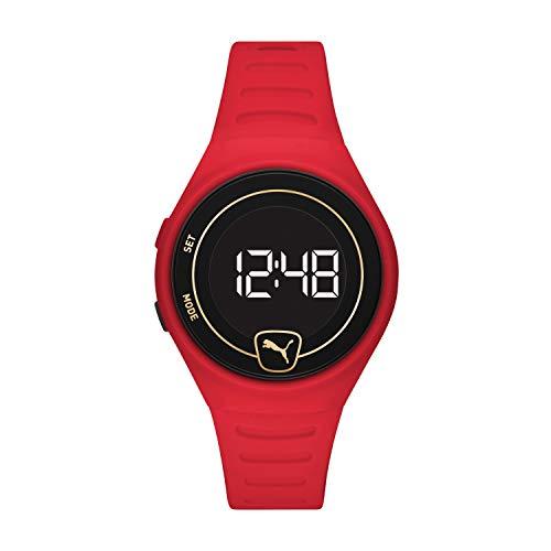PUMA Reloj digital unisex con correa de poliuretano P5047