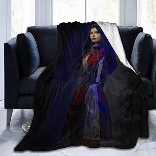 Descendants 3 Evie Ultraweiche Micro-Fleece-Decke, Überwurf, superweich, hypoallergen, Plüsch, Bett, Couch, Wohnzimmer, 152,4 x 127 cm