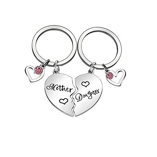 Moeder en dochter cadeau mama sleutel fod dochter sleutelhanger hart puzzel hanger sleutelhanger cadeau voor kerst moeders dag verjaardag