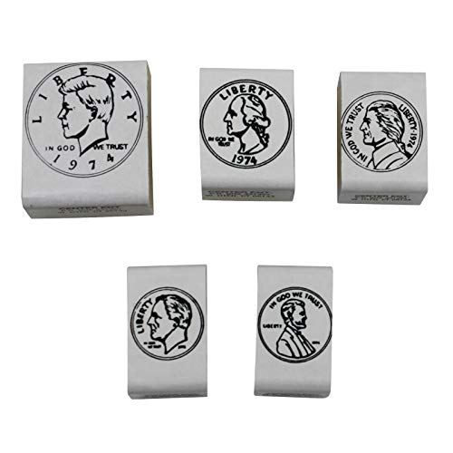 Center Enterprises Inc. Coin Rubber Stamp Set, Heads