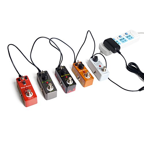 Donner DPA-1 Pedal Power Supply Adapter 9V DC 1A Tip Negative 5 Way Daisy Chain Cables for Effect Pedal