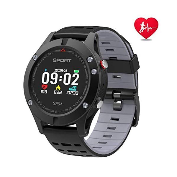 APHYC Reloj deportivo con Bluetooth, altitud, termómetro integrado, GPS