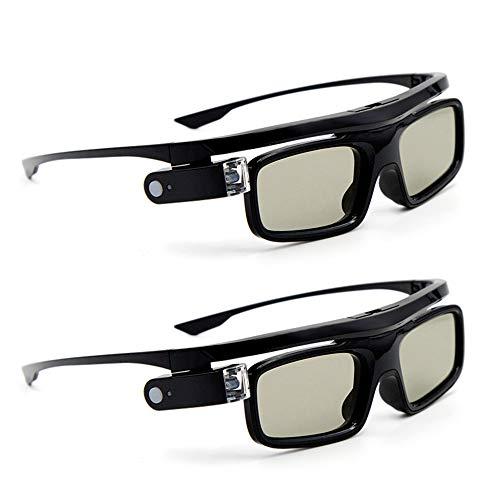 Docooler 3D-Brille 3D Active Shutterbrille GL1800 für Projektor,Active Shutter Wiederaufladbare Brillen DLP-Link für alle 3D-DLP-Projektoren Optama Acer BenQ ViewSonic Sharp Dell