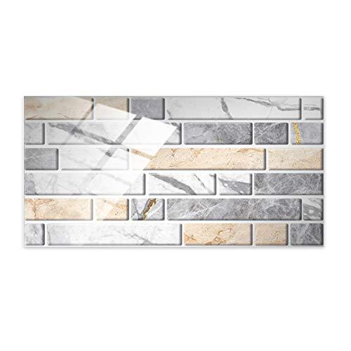 Pegatinas para azulejos Adhesivos de pared para pegar en azulejos, 12 piezas, adhesivos para azulejos de cristal, 7.8 x 3.9 in, papel tapiz, azulejos autoadhesivos para cocina, dormitorio, baño