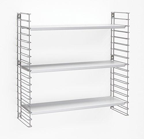 Tomado - Estantería para Libros (3 estantes), Color Blanco