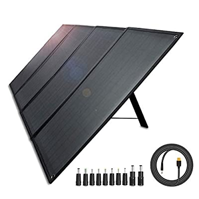 AIPER Portable Solar Panel 100W for Suaoki/Jackery/Goal Zero Yeti/Rockpals/Paxcess Portable Power Station as Solar Generator, Portable Foldable Solar Charger with USB Ports for Summer Camping Van RV